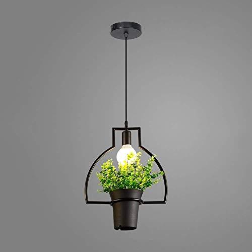 Moderne led-kroonluchter, Nordic geometrisch zwart ijzer bloempot decoratie verlichting kroonluchter plafondverlichting Europese creatieve cafe eettafel balkon hanglamp