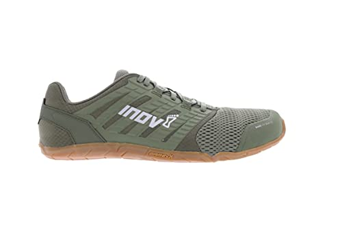 Inov-8 Mens's Bare XF 210 V2 – Minimalist Cross-Trainer & Running Shoes – Men's Barefoot Lifting Shoes - Olive/Gum - 12