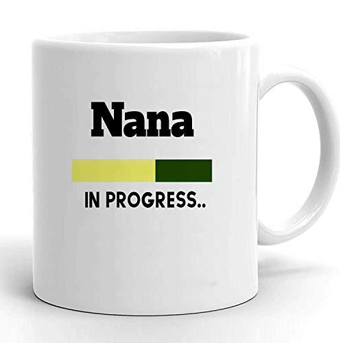 Mug Porcelain Mug Nueva Nana Esperando Nana Embarazo Revelar Baby Shower Embarazada Nueva Nana Futura Nana Nana Para Ser Oficina Taza De Café Cerámica Personalizada 330ml Taza De C