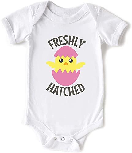Toll2452 Mameluco de bebé recién nacido, revelar regalo de Pascua bebé body camisa de bebé