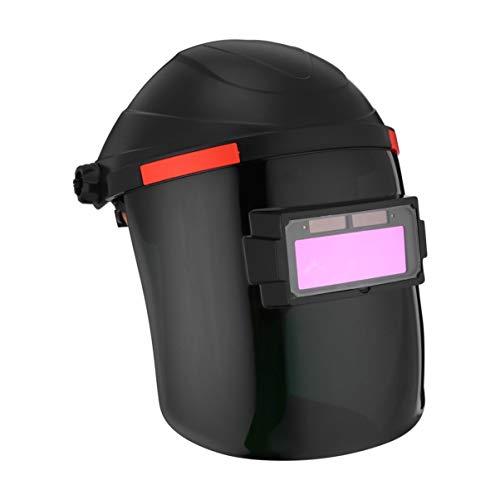 Hemoton Casco de Soldadura Pantalla de Visualización Grande Capucha de Oscurecimiento Automático para Soldador de Molienda de Soldadura por Arco TIG Mig