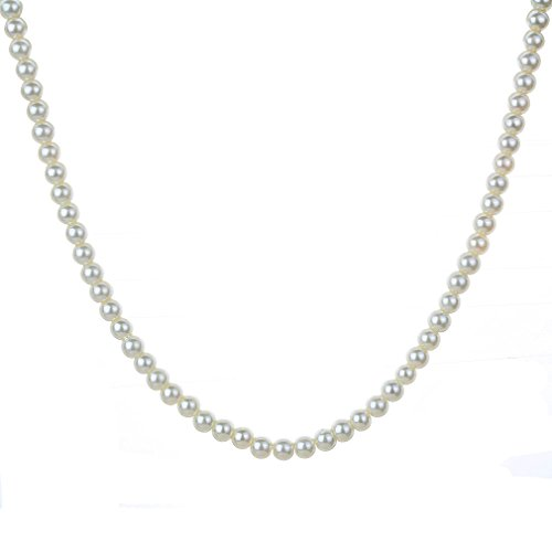 YAZILIND Simple Style Silver Plated Full Faux Pearls Necklace for Women