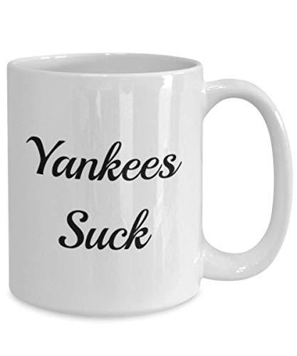 Taza de regalo de Dason Yankees Suck Idea de regalo para los enemigos de béisbol de Nueva York, Navidad, cumpleaños, café, té, taza 825253