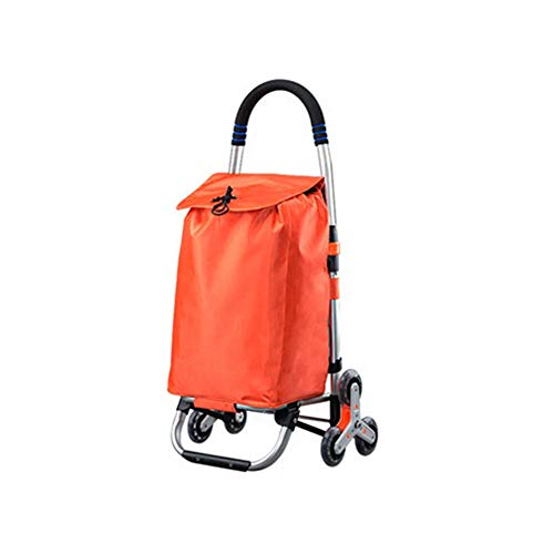 ZoSiP Folding Shopping Trolley Cart Grocery Shopping Trolley Folding Shopping Trolley Portable Shopping Grocery Folding Trolley Large Shopping Trolley Bag (Color : One, Size : 91x33x24cm)