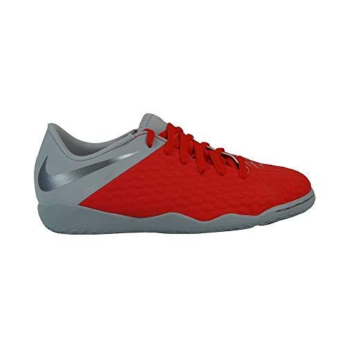 Nike JR Hypervenom 3 Academy IC, Zapatillas de fútbol Sala Unisex niño, Multicolor (Lt Crimson/Mtlc Dark Grey/Wolf Grey 600), 30 EU