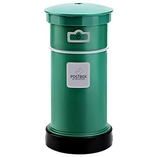 200 ml 3-in-1 luchtbevochtiger met USB-ventilator, led-nachtlampje, ultrasone diffuser met etherische oliën voor de thuiskantoor, auto-aromaverstuiver. groen