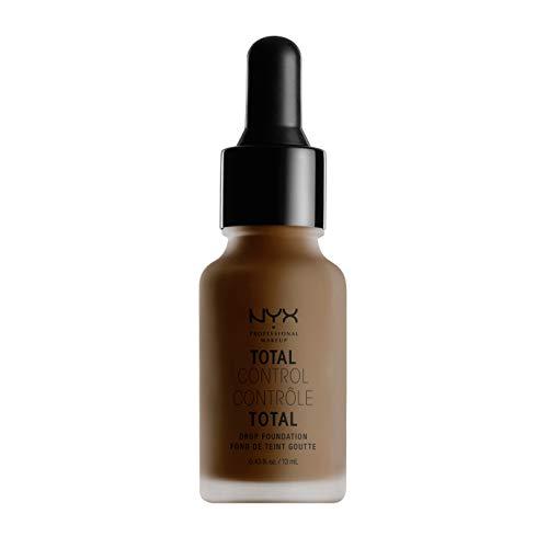 NYX Professional Makeup Total Control Drop Foundation, Präzise Dosierung, Aufbaubare Deckkraft, Langanhaltend, Vegane Formel, Mattes Finish, Farbton: Deep Espresso