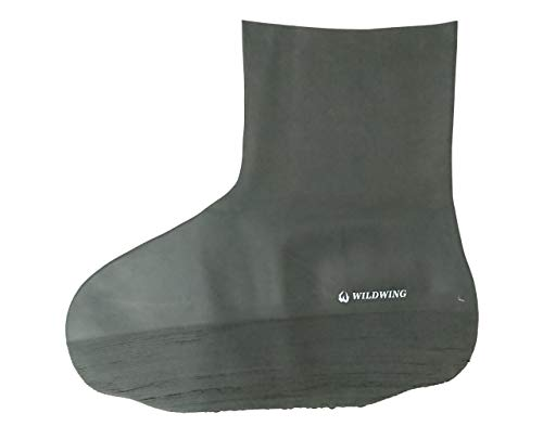 ワイルドウィング(WILDWING)シューズカバー(ハイカット)ゴム製Lサイズ伸びが良く丈夫!ブーツ・スニーカーに対応【完全防水】《滑りにくいレインシューズ(ブーツ)カバー》キャンプや釣り・野外フェスに