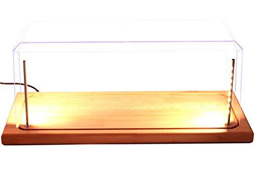 Pioneer Plastics - Vitrine für Modellautos mit Echtholzboden, LED Beleuchtung, Dimm-USB-Kabel, Maßstab 1:18 / 1:15
