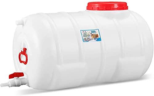 WXking Cubo de plástico Grueso al Aire Libre, Recipiente de Almacenamiento de Agua de Gran Capacidad Circular Horizontal, Cubo de Grado alimenticio Fuerte y Duradero (Size : 125L)