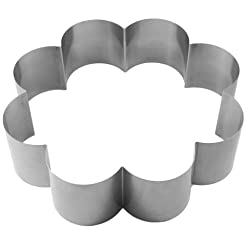 Lares - baking pan / baking frame / cake ring - made of spring steel - motif: flower 8 arches - Ø approx. 27 cm, H: approx. 7 cm - Made in Germany