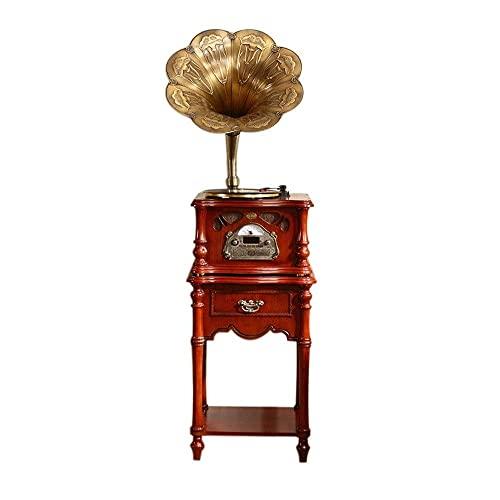 YAMMY Tocadiscos, gramófono, Antiguo, Gran Trompeta, Madera clásica, Bluetooth, Mediados de Siglo,...