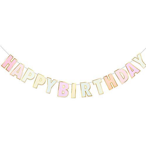 HAPPY BIRTHDAY 誕生日ガーランド ハッピーバースデー バナー 誕生日飾り付け レターバナー 休日の装飾 (B)