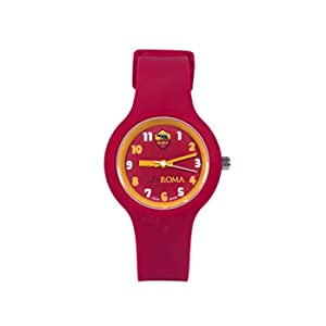 AS Roma Kid, Orologio da Polso Unisex Bambini, Bordeaux, One Size