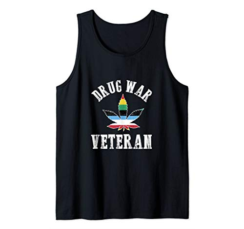 Funny Drug War Veteran End The War On Drugs Tank Top