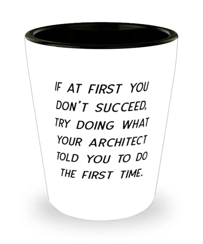 Inspira regalos de arquitecto, si al principio no tienes éxito, trata de hacer lo que tu arquitecto te dijo que hicieras, broma regalos de vacaciones de colegas