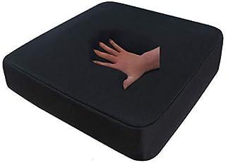 Cojines de espuma de gel/anti-decúbito 52x45x10 cm para silla de ruedas, silla, coche, camión, silla de escritorio, ejecutiva, cojines protectores de espalda + nalgas - color negro - Negro, RG 85 (medio)