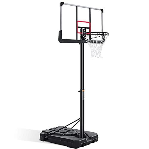 Basketballkorb Outdoor Basketballtor Tragbares Basketballsystem Set mit höhenverstellbarem 1,8 m - 17,8 m - 3 m mit 111,8 cm Rückwand & Rädern für Kinder Jugendliche Erwachsene Familie Indoor