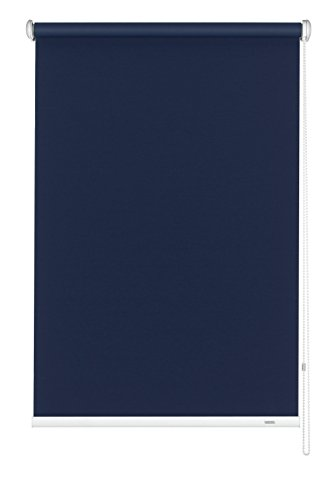 Bild Gardinia 6241162180 GARDINIA Seitenzug-Rollo zum Abdunkeln, Decken-, Wand- oder Nischenmontage, Lichtundurchlässig, Alle Montage-Teile inklusive, Dunkelblau, 162 x 180 cm (BxH)