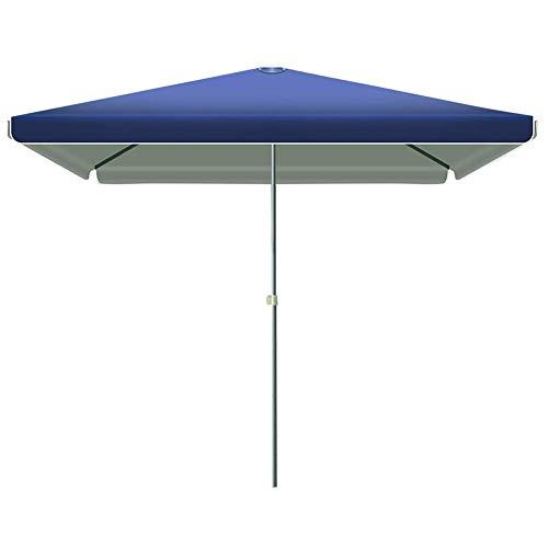 ZXL 2.2 * 2.8M Shading Garden Sun Shelter, rechteckiger Sonnenschirm Regenschirm Offset Cantilever Wasserdicht UV-beständig für Outdoor/Gärten/Balkon/Patio Baldachin Sonnenschutz, Blau