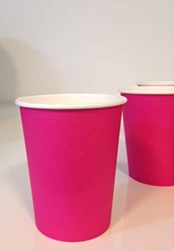 Adiserve 50 Gobelets en Carton Couleur Rose Fuchsia 24 cl