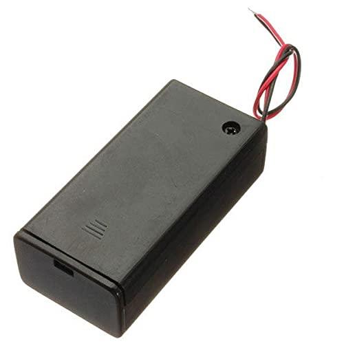 Módulo electrónico Titular de la batería de 9V Paquete de la caja con el interruptor de encendido/apagado de alimentación Alternar Negro 5 x Equipo electrónico de alta precisión