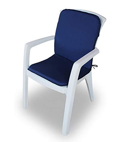 Cojín para silla de jardín Relax para exterior asiento + respaldo 45 x 90 cm AA329 turquesa