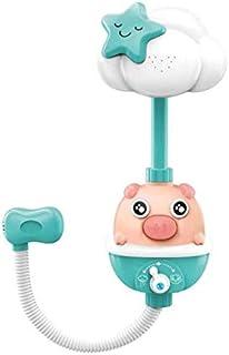 JVSISM Baby Bath Toys Flower Shower Head Bathtub Bathing Water Game Watering Sprayer for Kids Toddlers-Green