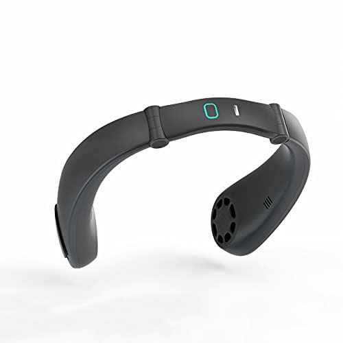 Portable Neck Fan, Bladeless Hanging Personal fan, Mini fan that can be connected to Bluetooth to play music, USB Rechargeable fan for all places, Wearable 3-Speed folding desktop fan, 360° Sports fan