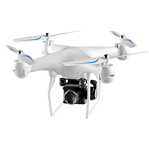 Drone pieghevole con fotocamera per adulti 4K ad altissima definizione, quadricottero semplice per principianti, tempo di volo di 25 minuti, controllo del sensore di gravità, modalità VR 3D bianco