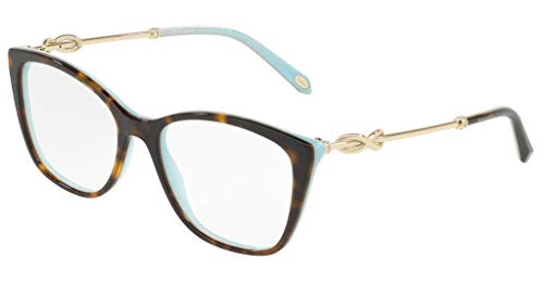 Tiffany Brillen Gafas de Vista INFINITY TF 2160B HAVANA TURQUOISE 54/17/140 Damen