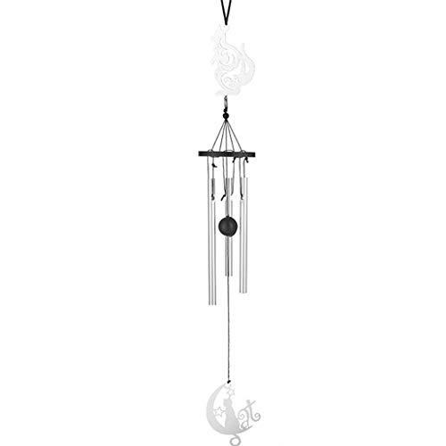 HEG Edelstahl Tuning Aluminium Rohr Musik Wind Chimes hängende Verzierung Tier-Anhänger Hauptdekoration handgemachtes Geschenk Windspiele (Color : D)