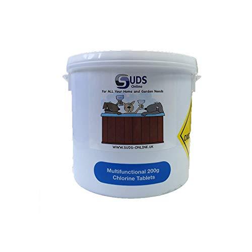 SUDS-ONLINE 5kg Multifunctional Chlorine Tablets 200g Swimming Pool Chemicals