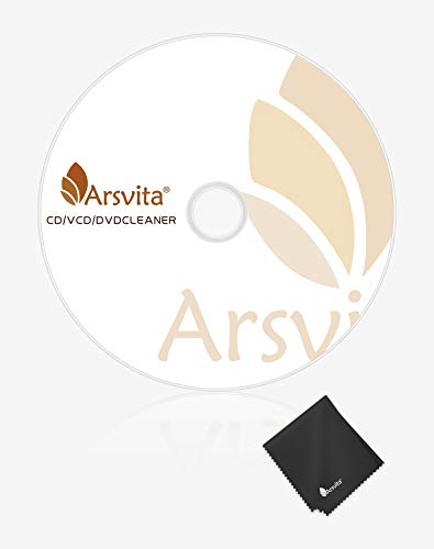 Arsvita Laser Lens Cleaner Disc Cleaning Set for CD / VCD / DVD Player, Safe and Effective, ARCD-01