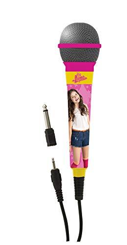 Soy Luna Lexibook Microfono Design da Ragazza, Jack 3,5 e Adattatore 6,3 mm, Alta sensibilità, Rosa/Giallo, Colore, MIC100SL