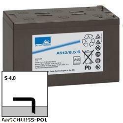 Exide Sonnenschein Bleiakku Dryfit A512/6.5S 12,0Volt 6.500mAh mit 4,8mm Steckanschlüssen