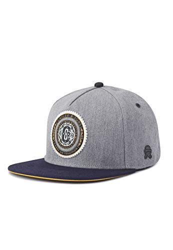 Cayler & Sons Unisex-Adult Snapback Finest grau Cap, Grey Heather/Navy, Einheitsgröße