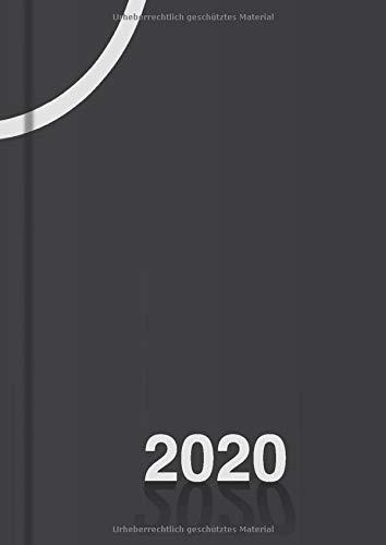 Tagesplaner 2020 DIN A4, Planer groß, 1 Tag - 1 Seite: Tageskalender 20 für 365 Tage, Platz für Termine, Todos, usw., für Freizeit und Business (schwarz)