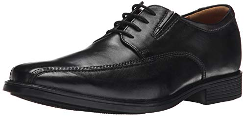 Clarks Men's Tilden Walk Derby, Schwarz (Black Leather), 46 EU