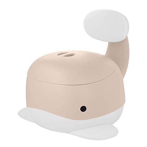 HAIBOMY Vasino per Bambini Baby poty Trainer Sedile Sedia da Toilette da Viaggio WC WC Battente vasino Allenamento Cartoni Animati Poltrona in plastica Toddler orinatoio (Color : Beige)