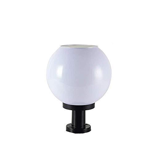 Lámpara De Pilar Eléctrica/Solar Creativa Personalidad Bola Globo Exterior Impermeable Columna Luz...