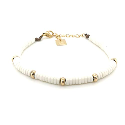 Zag Bijoux armband, staal, verguld