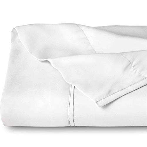 Bare Home Kids Flat Top Sheet Premium 1800 Ultra-Soft Microfiber Collection - Double Brushed, Hypoallergenic, Wrinkle Resistant, Easy Care (Twin/Twin Extra-Long, White)
