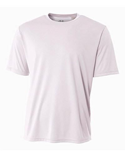 A4 Men's Cooling Performance Crew Short Sleeve, White, Large