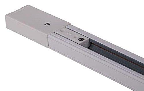 Carril Monofasico 2m Blanco Para Focos LED Aluminio ONSSI LED