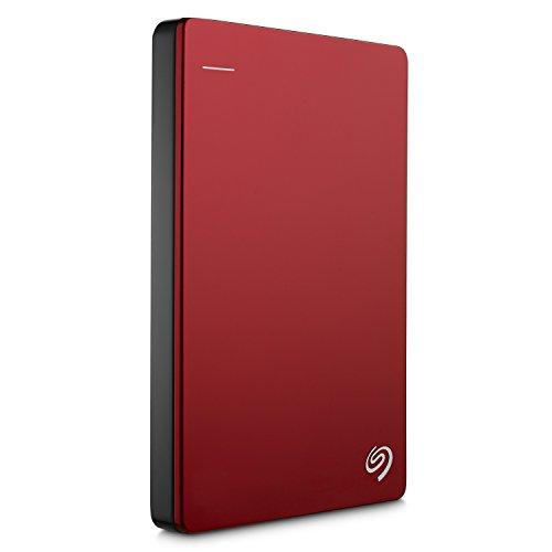 "『Seagate Backup Plus Portable 1TB HDD 【2018モデル】バックアップソフト付 2.5"" 外付 電源不要 Mac PS4対応 3年保証 赤 STDR1000303』の2枚目の画像"