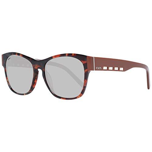 TOD'S TO0224 5654J Tods Sonnenbrille TO0224 54J Schmetterling Sonnenbrille 56, Braun
