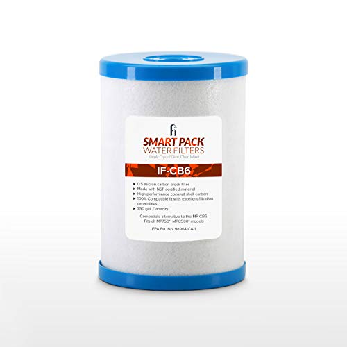 iFilters CB6 Carbon Block Water Filter Replacement...