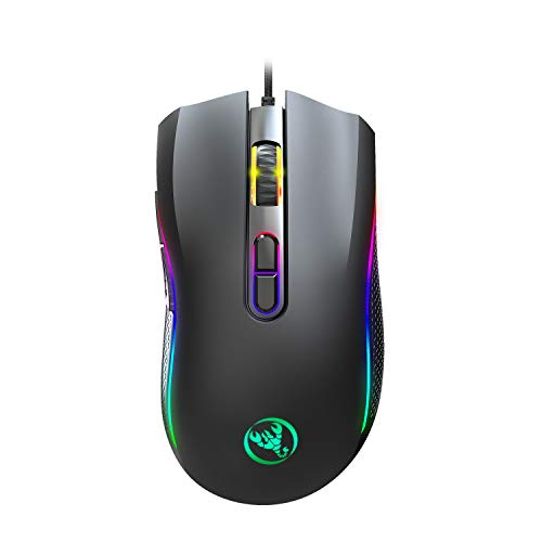 Gaming Mouse, KKUYI RGB Gaming Mouse Wired Gaming Mice Ergonomic with 16 Million RGB Color Backlit, 7 Programmable Buttons, 7200 DPI Adjustable, Comfortable Grip for Laptop MAC Windows PC Gamers