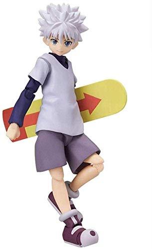 KIJIGHG Anime Hunter X Hunter: Killua Zaoldyeck Figma Figura (Color: Gon Freecss) Figura de Anime Figuras de accion Modelo de Personaje de Anime 20CM